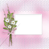 Card for invitation with bunch of flowers Stock Photos