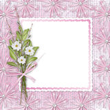 Card for invitation with bunch of flowers Royalty Free Stock Photography