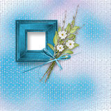 Card for invitation with bunch of flowers Royalty Free Stock Photo
