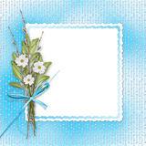 Card for invitation with bunch of flowers Stock Image