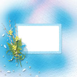 Card for invitation with bunch of willow Royalty Free Stock Photography