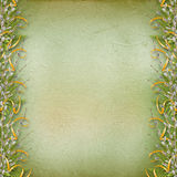 Card for invitation with bunch of willow Royalty Free Stock Photo