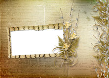Card for invitation with bunch of willow Royalty Free Stock Photos