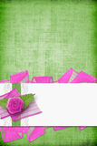 Card for invitation with buttonhole and lace Stock Photography