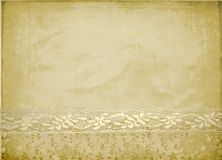 Card for invitation or congratulation. With lace Royalty Free Stock Image