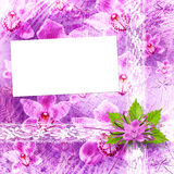 Card for invitation or congratulation Stock Photos