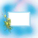 Card for invitation or congratulation Royalty Free Stock Photo