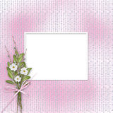 Card for invitation or congratulation Stock Image