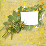 Card for invitation or congratulation Stock Photo