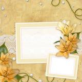 Card for invitation or congratulation Stock Photo