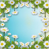 Card for invitation or congratulation with bouquet Royalty Free Stock Images