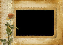 Card for invitation or congratulation with rose Stock Photo