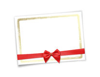 Card for invitation or congratulation to holiday Stock Image