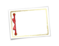 Card for invitation or congratulation to holiday. White isolated background Stock Images