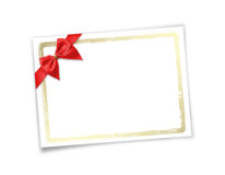 Card for invitation or congratulation to holiday. White isolated background Royalty Free Stock Images
