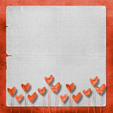 Card for invitation with hearts Royalty Free Stock Images