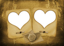 Card for invitation with hearts for photo Royalty Free Stock Photography