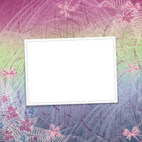 Card for invitation with orchids and bow Stock Images