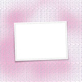 Card for invitation on the pearl. Card for invitation or congratulation on the pearl pink background Stock Images