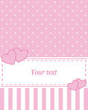 Card invitation pink Royalty Free Stock Images