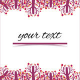Card, invitation. Postcard with space for writing text Stock Photography