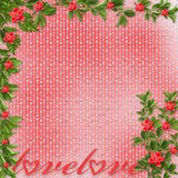Card for invitation with red orchids Stock Photography
