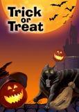 Card invitation to the celebration of Halloween. Stock Photo