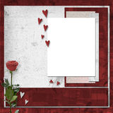 Card for  invitation with vinous rose Stock Photo