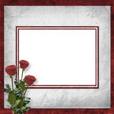 Card for invitation with vinous roses Stock Photography