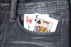 Card in jean pocket Royalty Free Stock Photo