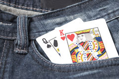Card in jean pocket Royalty Free Stock Image