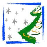 card jul som greeting stock illustrationer