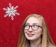 card julvänner kan greeting av ferier, natt somalternativ till wishes skriver Royaltyfria Bilder