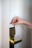 Card key door Stock Photo