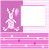 Card for kids with a Bunny4-01 Stock Photography