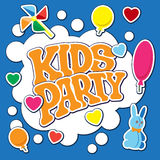 Card for kids party. Stock Photo