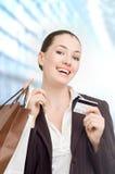 card kreditering Arkivbild