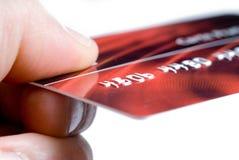 card kreditering Arkivfoto