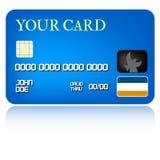 card krediteringsillustrationen Arkivbilder