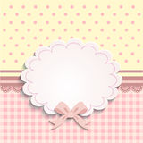 Card or label for little girls Stock Image