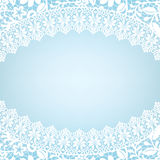 Card with lace border Royalty Free Stock Images