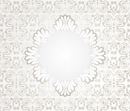 Card with Lace Design Frame Royalty Free Stock Photo