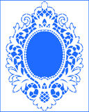 Card Lace Frame. Royalty Free Stock Photo