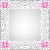 Card with lace ribbon Royalty Free Stock Photo