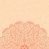 Card with lacy pattern Royalty Free Stock Photos