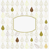 Card with leaves Royalty Free Stock Images