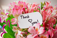 Card with lettering thank you Royalty Free Stock Image