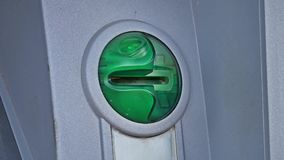 Card light flashing on machine ATM Stock Images