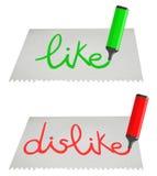 Card like dislike Stock Photography