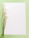 Card and lily of the valley stock images